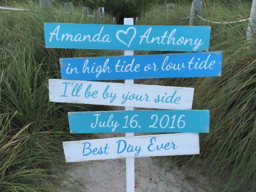 Custom Made Best Day Ever Beach Wooden Sign. Gift For Couple Signage For Wedding