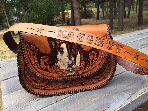 Custom Made Western Style Pet Portrait Purse
