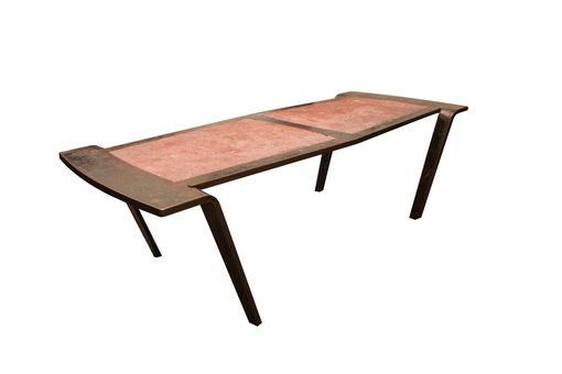 Custom Made Steel & Concrete Coffee Table