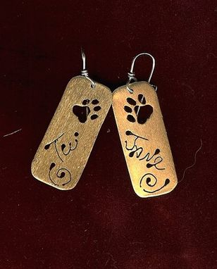 Custom Made Pets Names Earrings