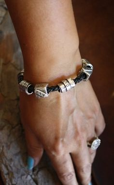 Custom Made Fine Silver - Lucky 7 Brag Bracelet - $475