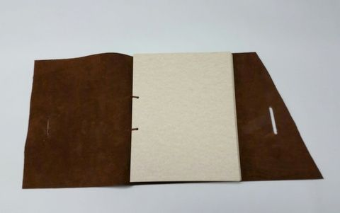 Custom Made Brown Leather Rustic Journal