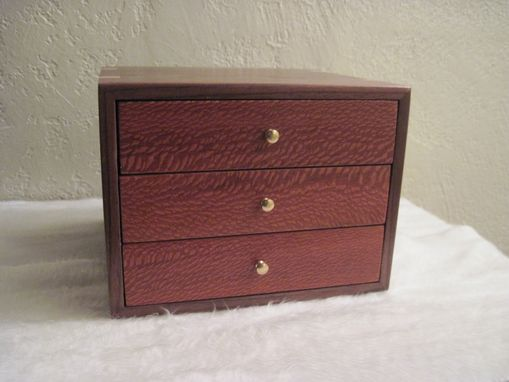 Custom Made Three Drawer Jewelry Chest