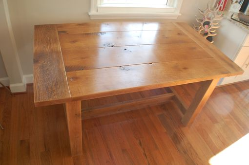 Custom Made Reclamed Trestle Farm Table