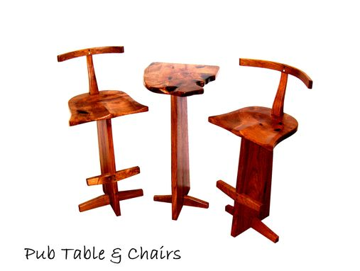 Custom Made Pub Table And Bar Stools