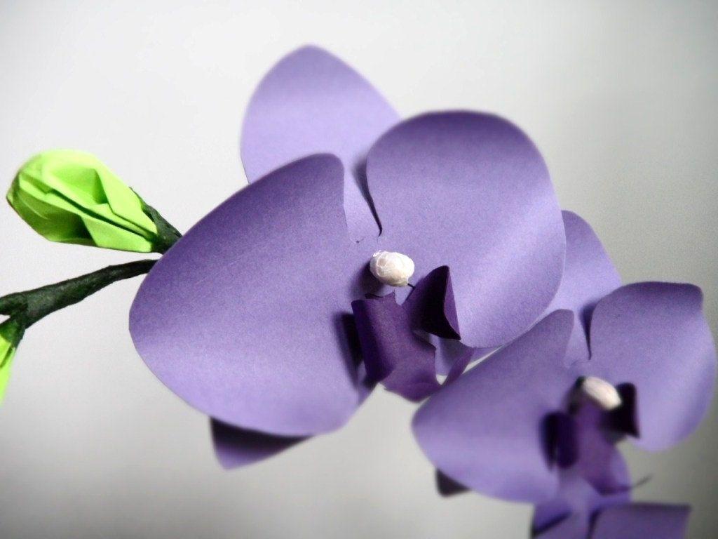 Hand made mini paper orchids purple by dear betsy custommade custom made mini paper orchids purple biocorpaavc
