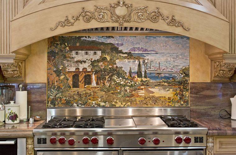 Custom Kitchen Mural Backsplash Mosaics by Vita Nova Mosaic, Inc ...