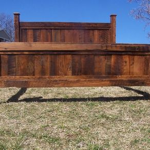 king size bed frame made from reclaimed oak - Wood King Size Bed Frame