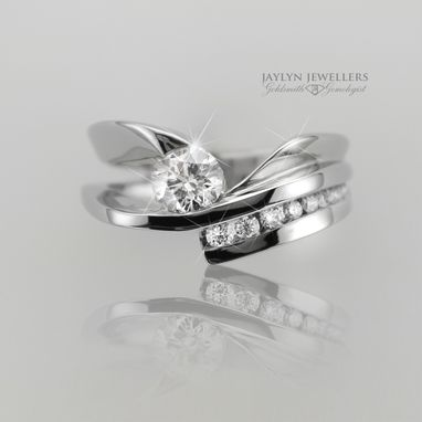 Custom Made Architectural Diamond Engagement Ring