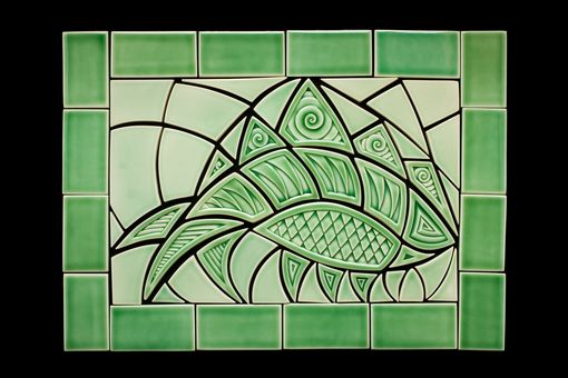 Custom Made Envy Fish Ceramic Tile Mural