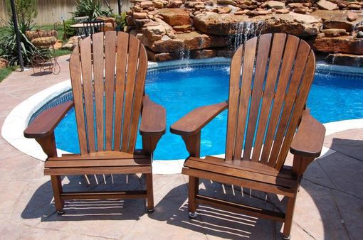 Custom Made Walnut Adirondack Chairs