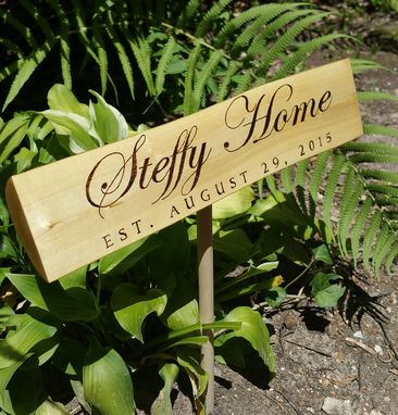 Custom Made Rusic Garden Signs