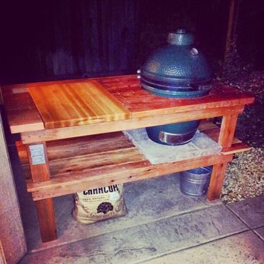Custom Made Red Oak Outdoor Grilling Table