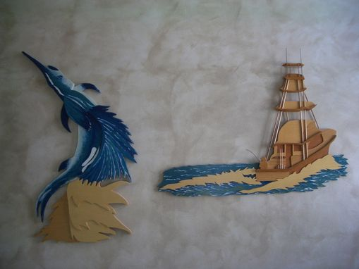 Custom Made Wooden Wall Art Seascape