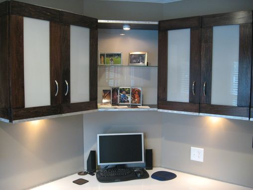Custom Made Custom Contemporary Office Desk And Shelving