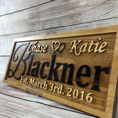 buy a handmade personalized wedding gift family name sign custom