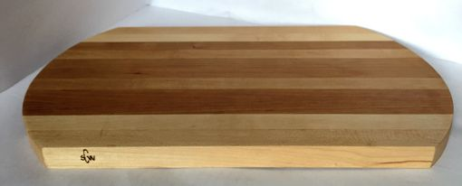 Custom Made Curved Maple And Cherry Cutting Board | Chopping Block | Butcher Block | Placemat | Cheese Tray