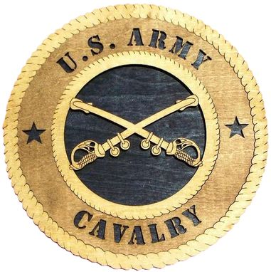 Custom Made U.S. Army Cavalry Wall Tribute, U.S. Army Cavalry Hand Made Gift