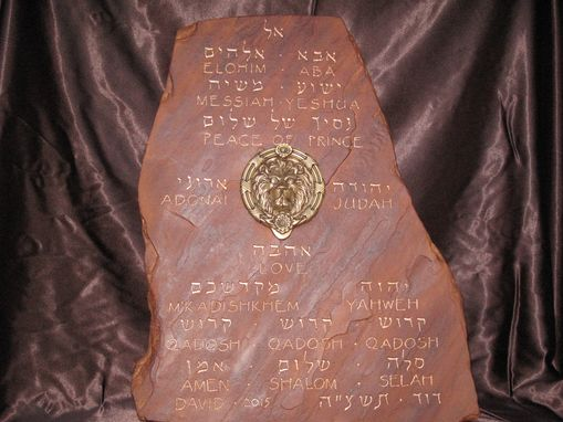 Custom Made Biblical Prayer Tablet.