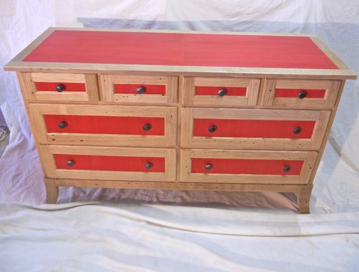 Custom Made Chestnut And Veneer Dresser