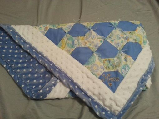 Custom Made Bowtie Baby Quilt
