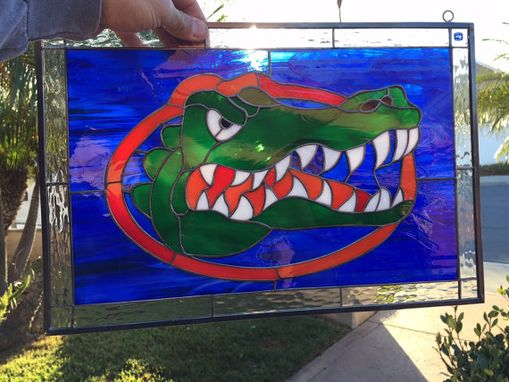 Custom Made Florida Gators Custom Stained Glass Window