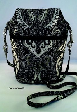 Custom Made Black And Ivory Paisley Bag
