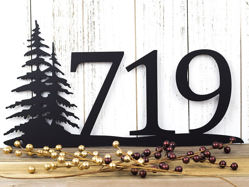 Custom Made Rustic House Number Metal Sign Numbers Address