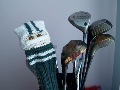Custom Made Ny Jets Football Knit Golf Club Cover