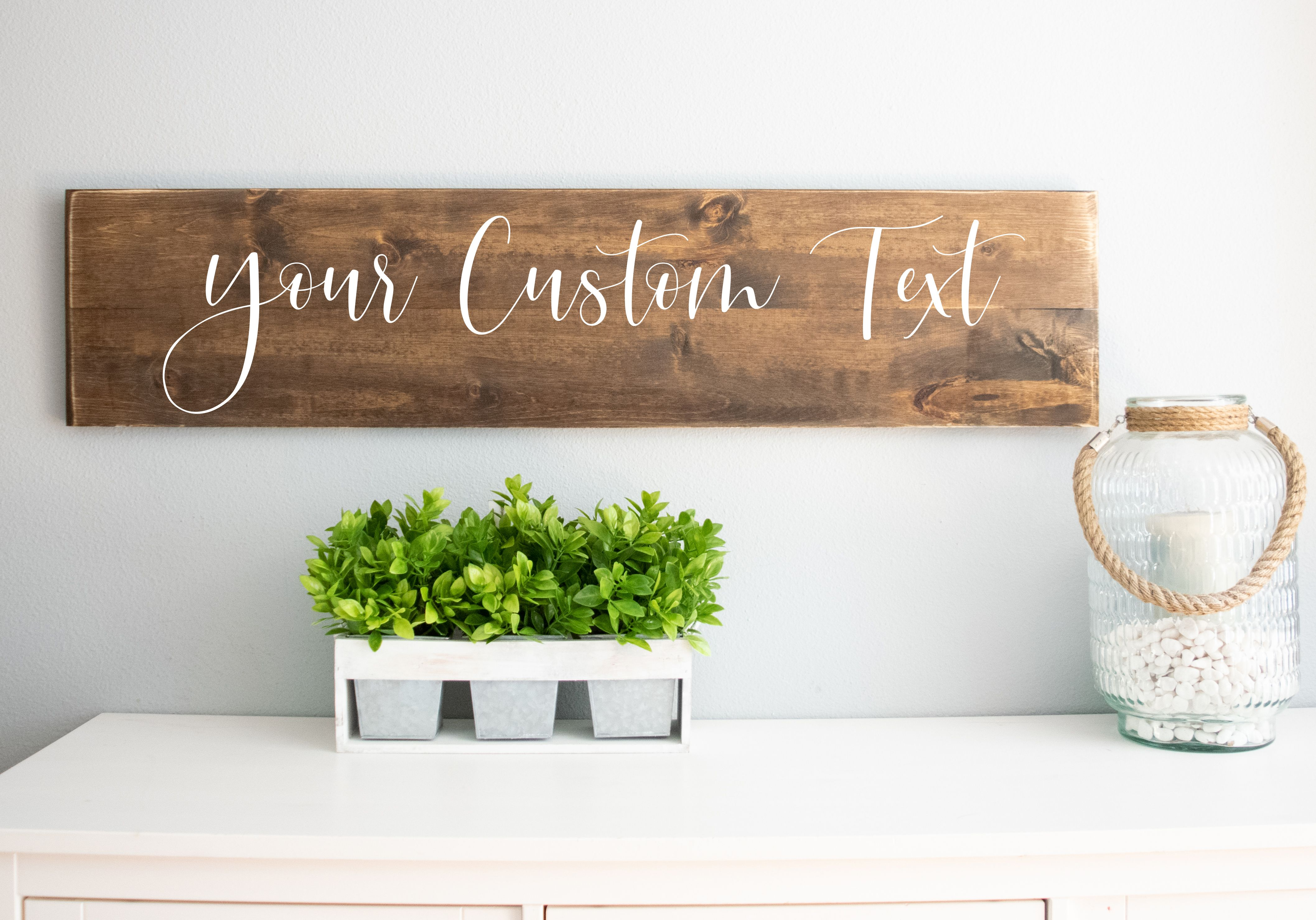 Metal wall art Welcome sign Custom sign Personalized Rustic Wood Plank Farm with Name in Banner Metal Room Sign Custom door signs