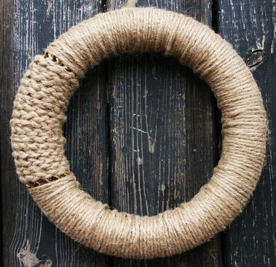 Custom Made Jute And Leather Wreath