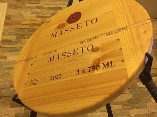Custom Made Masetto 99pts  Handmade Lazy Susan Italian Wine.