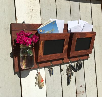 Custom Made Horizontal Mail Organizer With Chalkboard