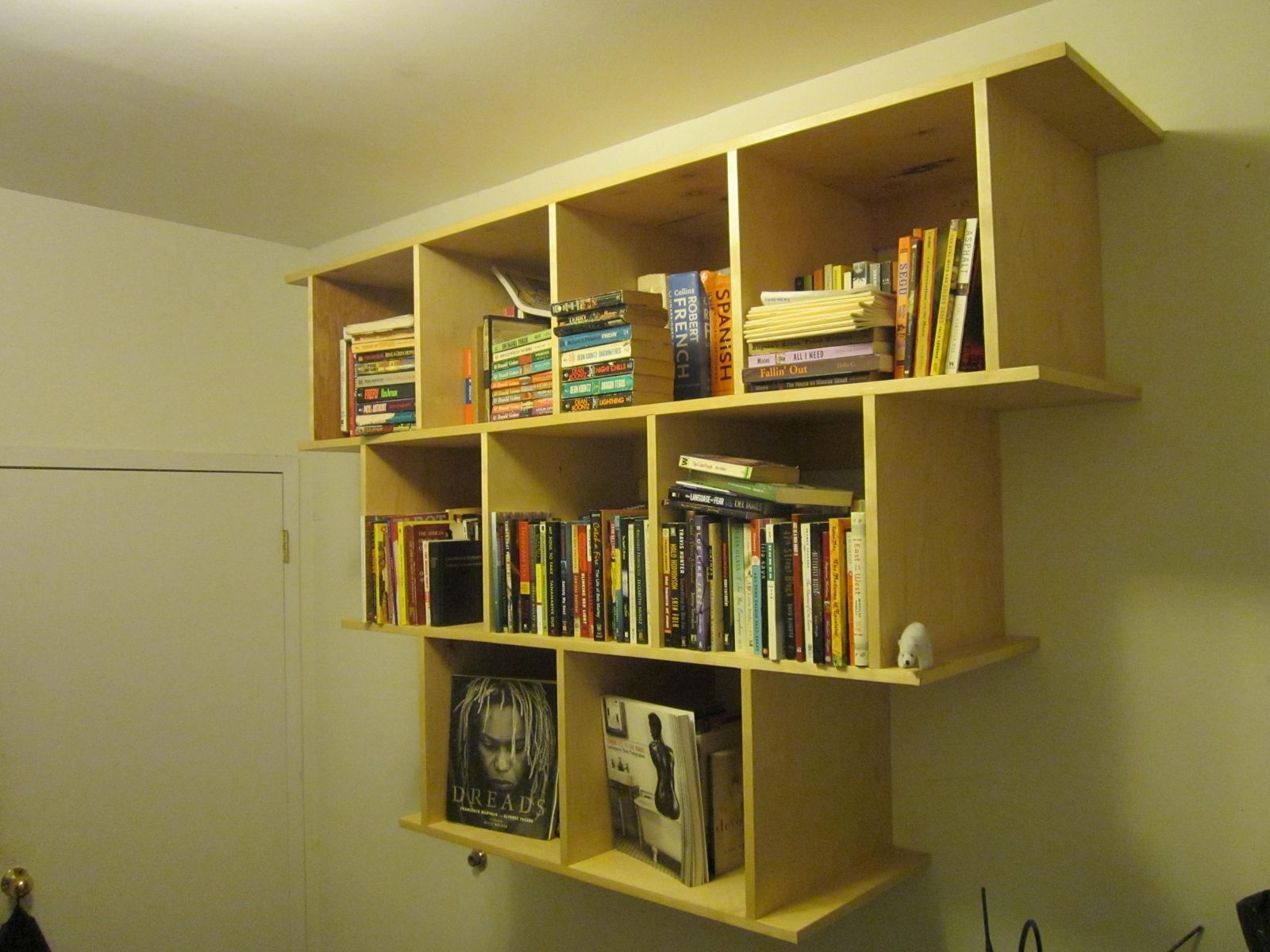 Hand Crafted Wall Hanging BookcaseShelves by WoodenItBeNice