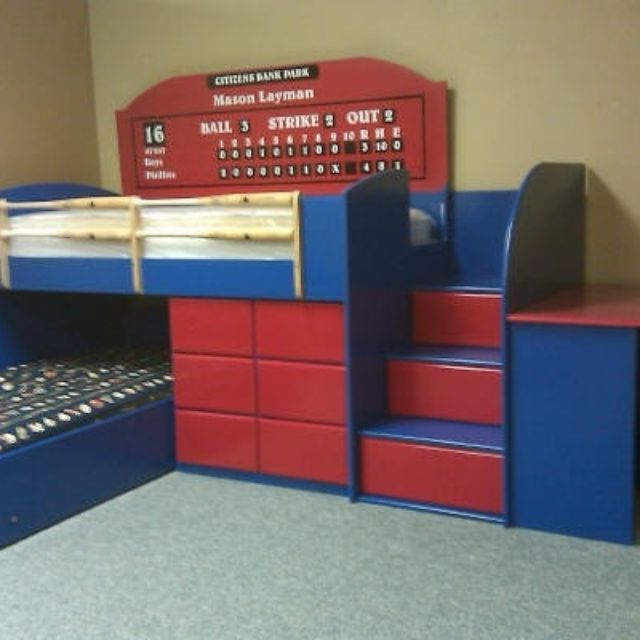 Hand Made Baseball Low Loft By Wwbeds Custom Furniture