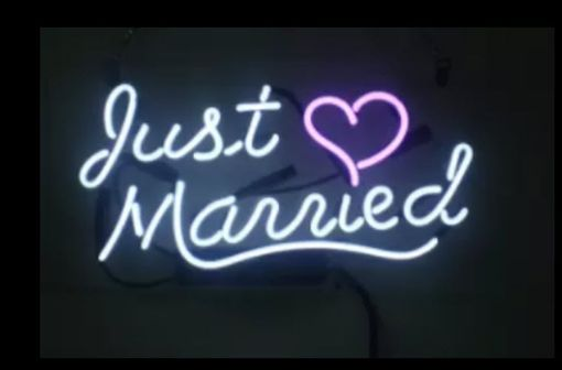 Custom Made Just Married Neon Sign