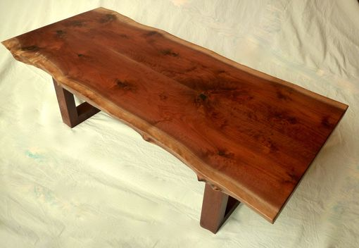 Custom Made Live-Edge Salvaged Walnut Coffee Table