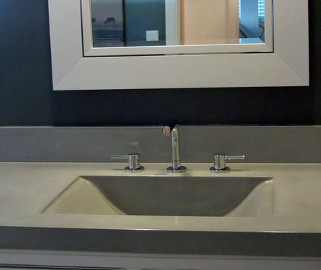 Custom Made Concrete Countertop And Integrated Sink