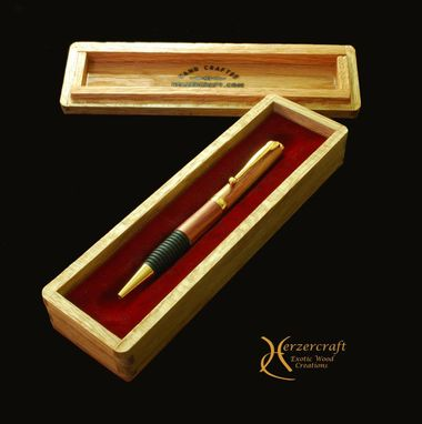 Custom Made Soft Grip Ballpoint Pen In Tulipwood