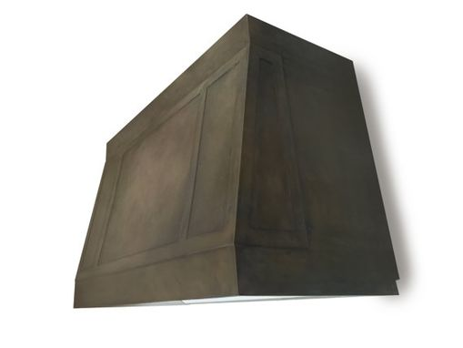 Custom Made #79 Dark Patina Zinc Hood With Deep Accents