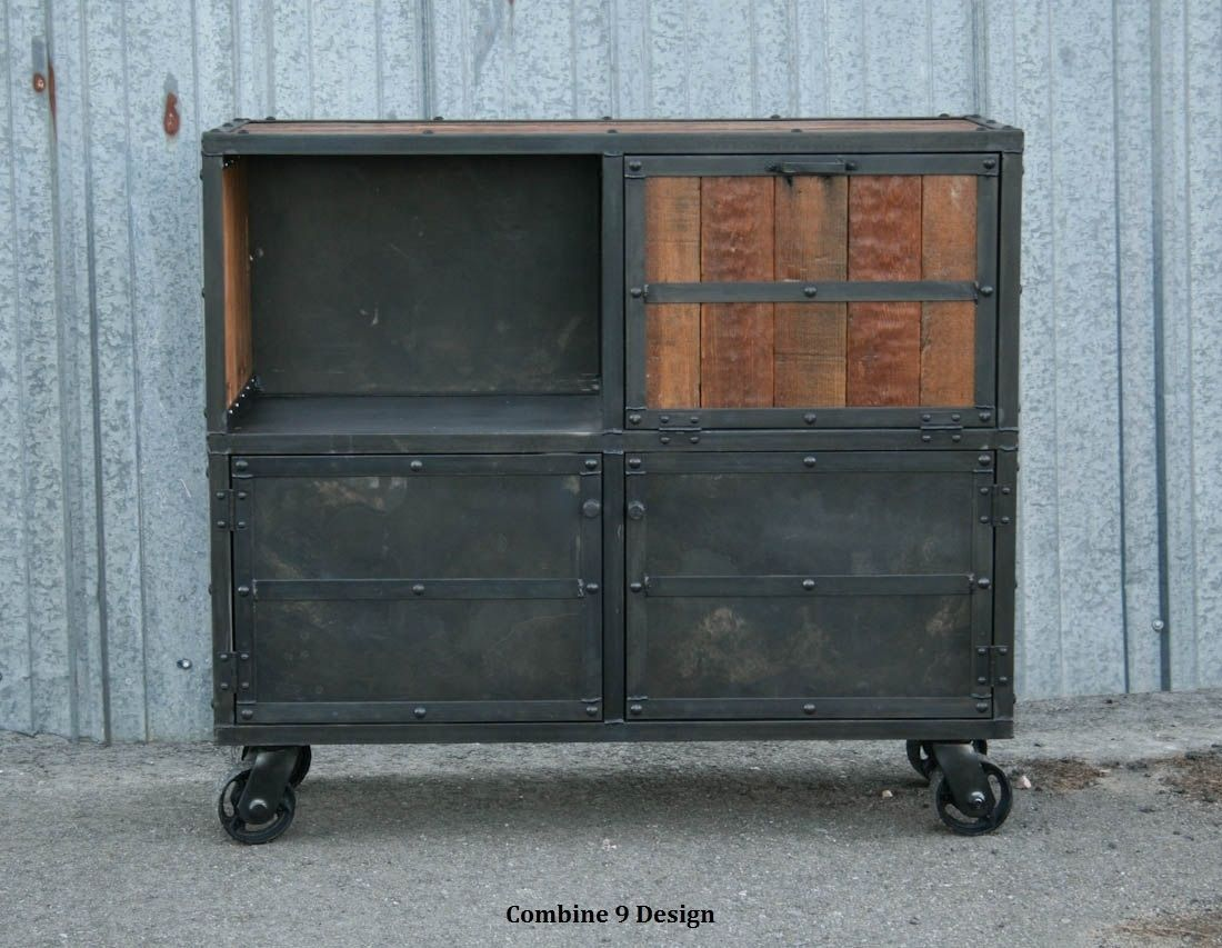Buy A Custom Made Bar Cart/Liquor Cabinet. Vintage