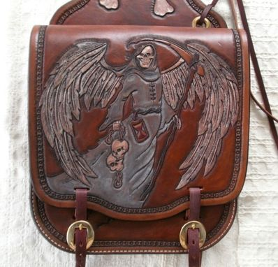 Hand Made Custom Leather Motorcycle Saddle Bags By 2nd