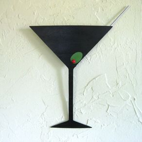 Metal Art Sculpture Martini Kitchen Upcycled Wall Bar Dining Room Tails By John And