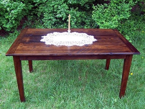 Custom Made Wormy Chestnut Farmhouse Extension Table