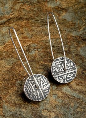 Custom Made Sterling Silver Disk Earrings