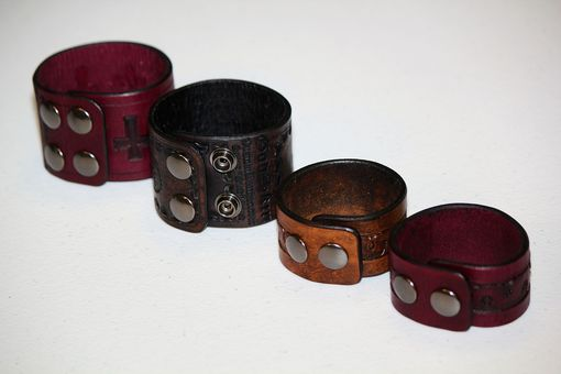 Custom Made Serpentine Custom Made Leather Cuff Bracelets