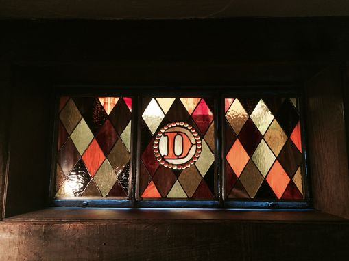 Custom Made Diamond Window With Initial