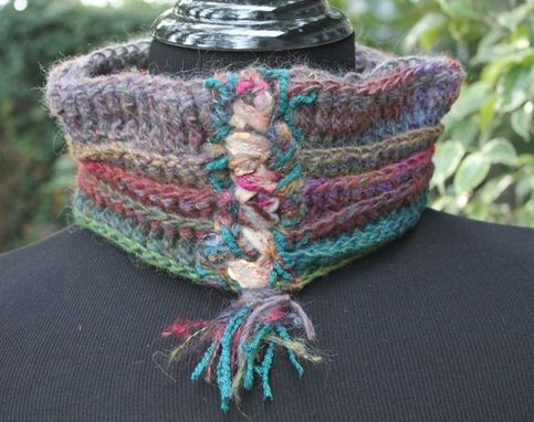 Custom Made Rowena - Cowl Neck Warmer , Mixed Fibers Of Wool