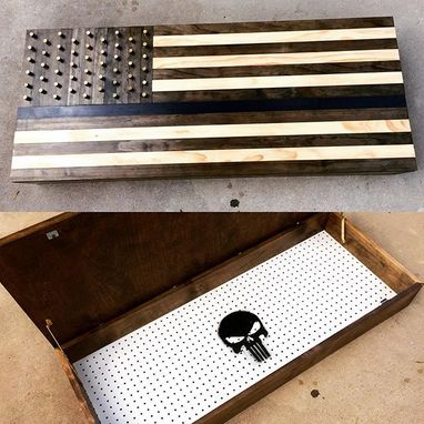 Custom Made American Flag Concealment Wall-Hanging