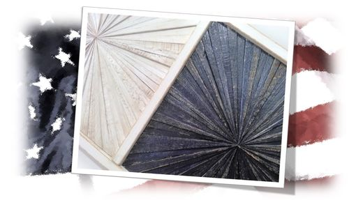 Custom Made Reclaimed Wood Wall Art - Wood Starburst - Rustic Modern Contemporary Wood Abstract Wall Art